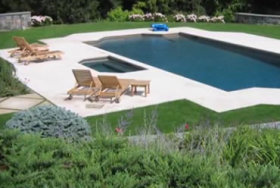 Natural Stone Pool Decks and Patios Restoration