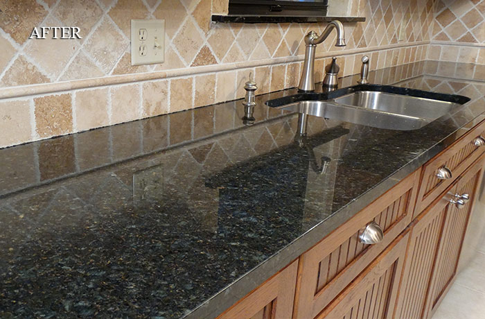 Granite Countertops Maintenance : granite cleaned and sealed the owners of these granite countertops ...
